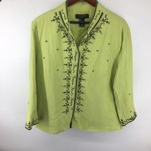 Silkland Lemon/Lime Embroidered Blazer
